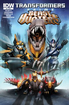 Transformers Prime: Beast Hunters #8 (of 8)  Mike Johnson & Mairghread Scott (w) • Agustin Padilla & Atilio Rojo (a) • Ken Christiansen (c)  THE FIGHT FOR CYBERTRON! GRIMLOCK and his DINOBOTS meet up with old allies and try to stop the new threat to the planet. But as things get heated, the outcome becomes uncertain. A new beginning… or the end of the DINOBOTS?  FC • 32 pages • $3.99