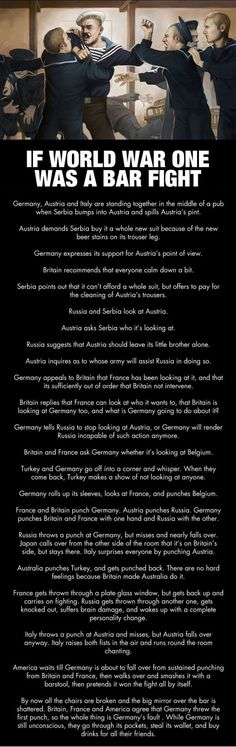 If World War One was a bar fight