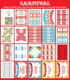 Carnival Printable Collection