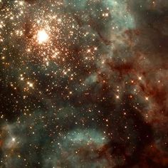 30 Doradus Nebula 170,000 light years distant in the Large Magellanic Cloud the most active region of star formation in the local universe.  Hubble Space Telescope