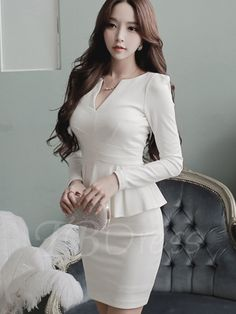 Tbdress.com offers high quality Double-Layered Plain Women's Bodycon Dress Bodycon Dresses unit price of $ 21.99.