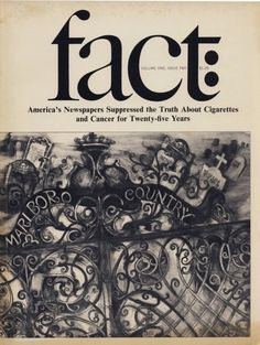 Fact magazine, art director: Herb Lubalin
