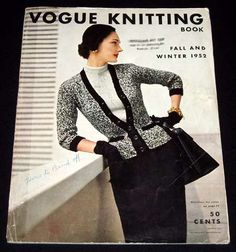 1952 Vogue Knitting Magazine Cover