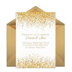 Customizable, free Golden Day online invitations. Easy to personalize and send for a party. #punchbowl