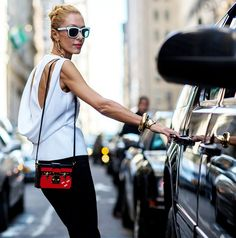 The Latest Street Style Photos From New York Fashion Week via @WhoWhatWear I think this is so great that I bought it...but I wear it with jeans (of course )!