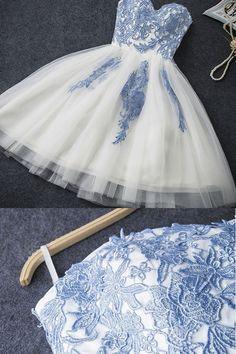 Customized Fancy Ivory Prom Dresses, Short Prom Dresses, #promdressshort #promdresses #homecomingdresses2018 #dresses