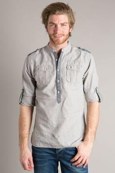 Chemise homme détails de style