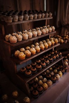 Gatherings on the Ridge Wedding Cupcake Display, Wedding Cupcakes Display, Mini Wedding Cupcakes, Wedding Cupcake Table, Wedding Desserts, Rustic Wedding, Wedding Ideas, Catering, Marie