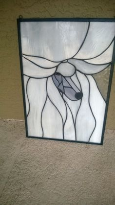 Poodle Stained Glass Panel   eBay