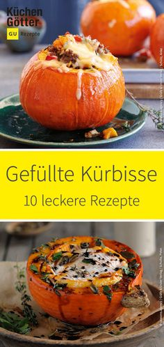 Here are 10 delicious recipes for stuffed pumpkins.- Here are 10 delicious recipes for stuffed pumpkins. - Here are 10 delicious recipes for stuffed pumpkins.- Here are 10 delicious recipes for stuffed pumpkins. Lacto Vegetarian Diet, Autumn Recipes Vegetarian, Vegetarian Appetizers, Raw Food Recipes, Fall Recipes, Halloween Appetizers For Adults, Easy Halloween Food, Base Foods, Different Recipes