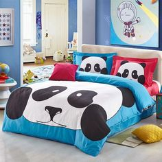 Add some fun and cheer to your room with these jungle themed animal planet panda print bedding sets. Add a touch of fresh, elegant style to your bedroom with the Eco-friendly animal planet panda bedding sets. Teen Bedding Sets, Double Bedding Sets, Girls Bedroom Sets, King Bedding Sets, Luxury Bedding Sets, Bedroom Themes, Childrens Bedroom, Queen Bedding, Girl Bedrooms