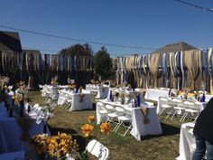 Not a great picture - but this was my backyard wedding...thanks to pinterest :) I loved it, and SO cheap!
