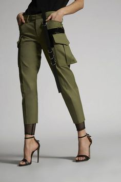Clothing for Women - Ready to Wear Spring Summer Official Store, Dsquared2, Ready To Wear, Khaki Pants, Capri Pants, Autumn Fashion, Spring Summer, Womens Fashion, How To Wear