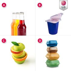 What is your fridge never without? A. Beverages B. Snacks C. Fruits D. Leftovers