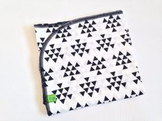 Modern Black and White Baby Blanket Swaddling Blanket by lilcleo