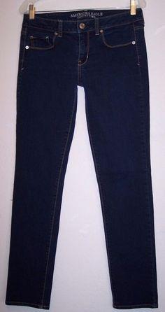 American Eagle Jeans 8 Skinny Stretch Denim Pants Women's Waist 31 / Inseam 30.5 #AmericanEagleOutfitters #SlimSkinny