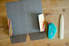 If you're one of those peeps who actually travel with your traveler's notebook, here's a tutorial for you. Or if you just like making and having neat things, this is also for you. Let's make a super easy non-die-cut-machine folder for our traveler's notebook! You'll need 12×12 sheet of patterned paper or cardstock paper trimmer (or xacto knife and ruler) scoring tool adhesive optional: scissors optional: corner rounder Step 1. Cut the paper down to 12 x 10.5 inches / 30,5 x 27 cm. Step 2…