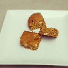 These came out awesome: Pumpkin blondies (Pumpkin Butterscotch White Chip Bars)