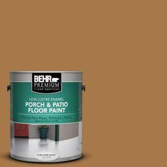 BEHR Premium 1 gal. #hdc-CL-18A Butter Caramel Low-Lustre Porch and Patio Floor Paint