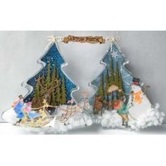 Transparante kerstbomen Sneeuwwatten Sleigh ride Boy makes a snowman Winter Christmas, Christmas Ornaments, Anton Pieck, Make A Snowman, September, Joy, Holiday Decor, How To Make, Cards