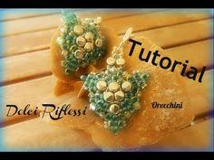 """* TUTORIAL: Orecchini di Ferragosto con """"Pellet"""" e twin della Preciosa - YouTube (earrings - Italian)"""