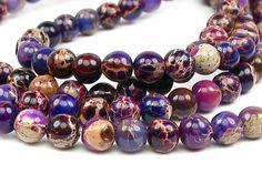 6mm Aqua Terra Jasper round gemstone Beads  by LifeForceGems