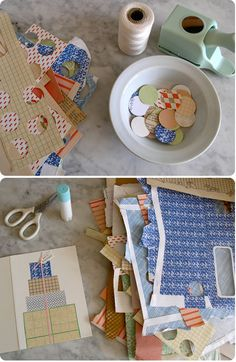 fun greeting cards made from paper scraps