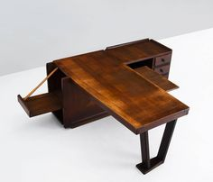 Dark Stained Oak Desk by Guillerme Et Cambron image 5