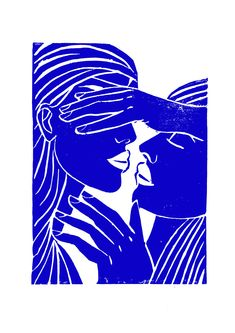 Blue Art, Simple Art, Graphic Illustration, Art Inspo, Painting & Drawing, Printmaking, Photo Art, Cool Art, Art Drawings