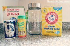 DIY Dish detergent at lizmarieblog.com