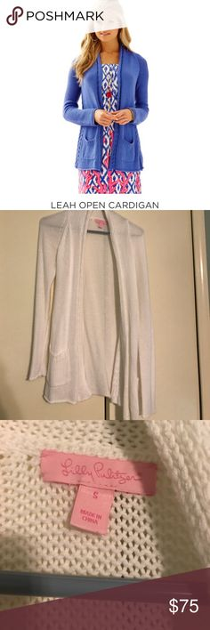 Lilly Pulitzer sweater NWOT Leah open cardigan NWOT in white. Lilly Pulitzer Sweaters Cardigans