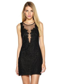 On ideeli: BASIX Sheer Back Beaded Tank Dress