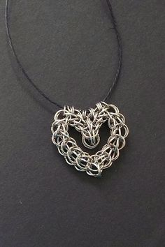 Being a novice at chainmaille, I know firsthand what a pain it can be to use just the right gauge to create shapes. For that reason, and the fact that it's a heart, this necklace is a must-have.