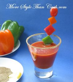 Shape Up Your Veggie Cocktail Garnishes! Definitely doing this on my next savory martini!