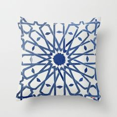 This Exclusive Moroccan Pillow will make the perfect accent on a couch, chair, window seat or bed. It would also make a perfect housewarming gift too! It's an original design by ©thegretest. Moroccan