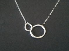 Infinity love circle pendant Necklace charm pendant by LaLaCrystal, $20.50