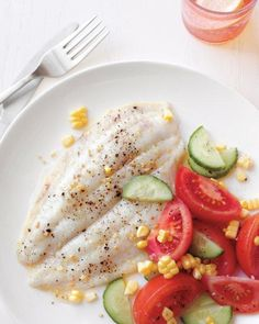 Broiled Fish with Summer Salad Recipe