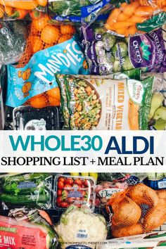 Whole 30 Lunch, Whole 30 Diet, Whole Food Diet, Aldi Meal Plan, Clean Eating Meal Plan, Healthy Eating, Aldi Shopping List, Healthy Shopping, Aldi Recipes