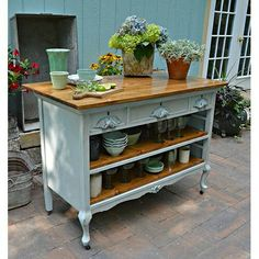 Kitchen island out of a dresser