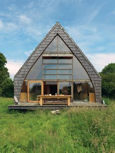 Off-The-Grid Country Home with A-Frame design, a DIY project by architect Jean-Baptiste Barache.
