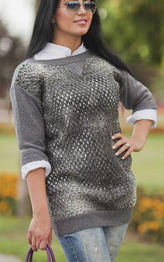 Oh by Kopenhagen fur sweater by ADAMOFUR #grey #style #winter #cozy #sweater #fur