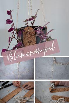 DIY Bastelanleitung für eine Makramee Kork Blumenampel zum Nachmachen. Eine Schritt-für-Schritt-Anleitung für Anfänger. #diy #bastelanleitung #kork #makramee #blumenampel Diy Projects To Try, Design Projects, Diy Blog, Diy Design, Diy Home Decor, Place Card Holders, Lady, Craft, Illustration