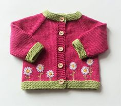 READY TO SHIP size 0-3 months knit baby girl cardigan merino