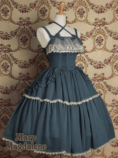 This one's such a pretty color, and it flows beautifully! Reminds me of the ocean-were it a lolita dress :)