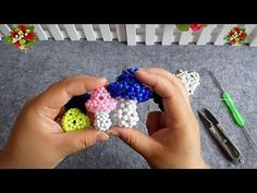 How to bead plant accessory:Mushrooms (style 2) - YouTube