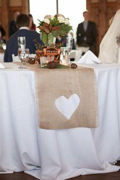 Burlap Table Runner For Wedding