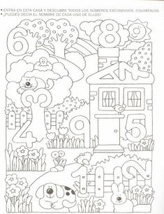 Crafts,Actvities and Worksheets for Preschool,Toddler and Kindergarten.Free printables and activity pages for free.Lots of worksheets and coloring pages. Numbers Preschool, Math Numbers, Preschool Learning, Kindergarten Worksheets, Teaching Math, Preschool Activities, Preschool Kindergarten, Math For Kids, Math Classroom