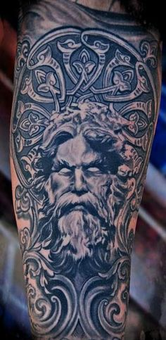 If you are thinking about getting a Greek mythology tattoos design and idea for men.Here are some collections about Greek Mythology Tattoos Design For Men. Zeus Tattoo, Hades Tattoo, Tattoo You, Poseidon Tattoo, Epic Tattoo, Creative Tattoos, Great Tattoos, Beautiful Tattoos, Tattoos For Guys