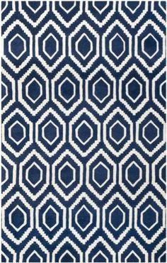 Safavieh Chatham CHT731 Dark Blue Ivory Rug | Contemporary Rugs