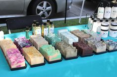 Selling my yummy soaps and the Santa Clarita Street Fair.